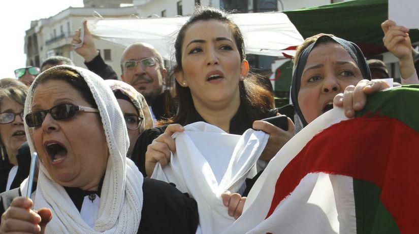 Alžírsko Buteflika voľby prezidentské protesty