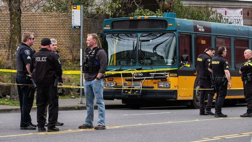 Seattle, streľba, polícia, police, autobus