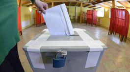 Medzany volby schránka urna