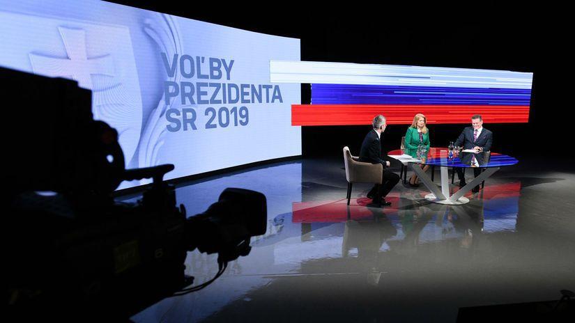 diskusia kandidátov, prezidentské voľby 2019,...