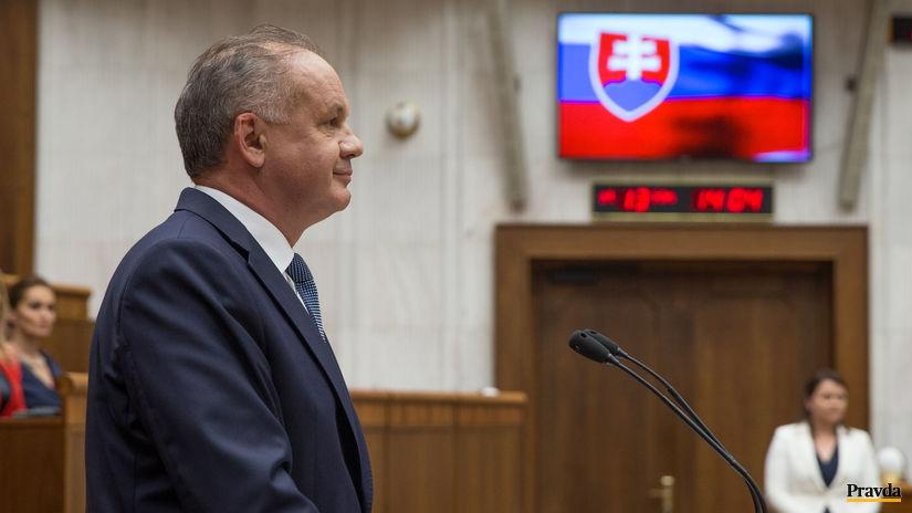 Andrej Kiska, parlament, prezident, prejav,...