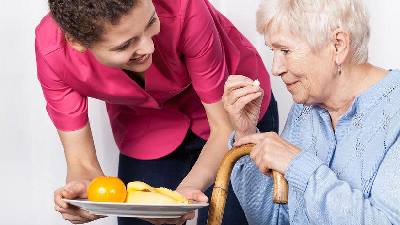 dôchodca, opatrovanie, senior