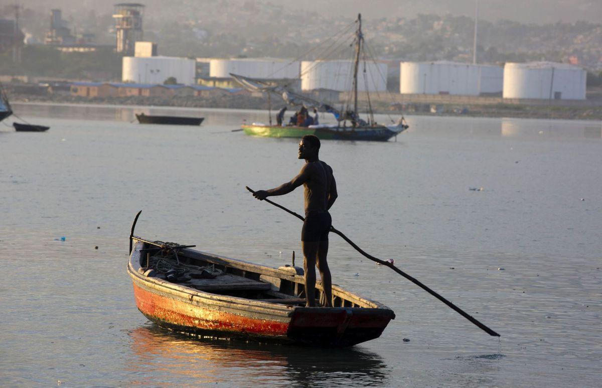 Haiti, loď, rybár,