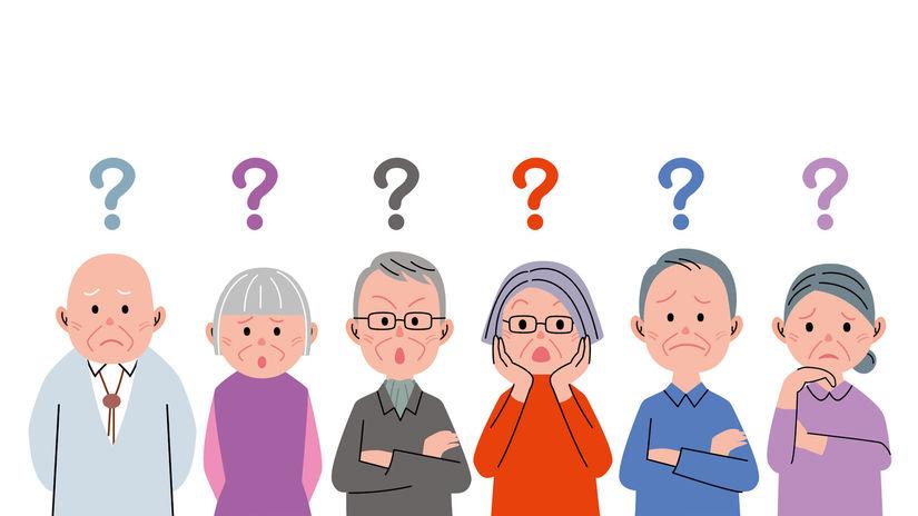 seniori, otázka