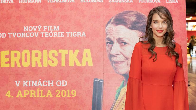 Herečka Kristína Svarinská.