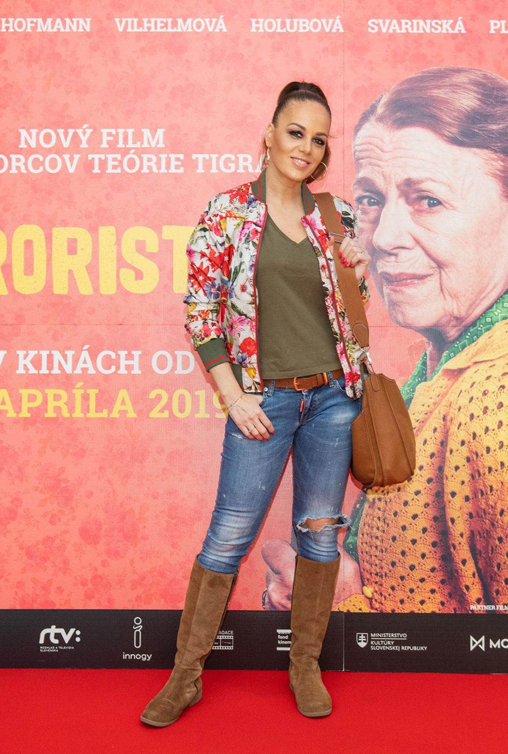 Moderátorka a herečka Karin Haydu na premiére...