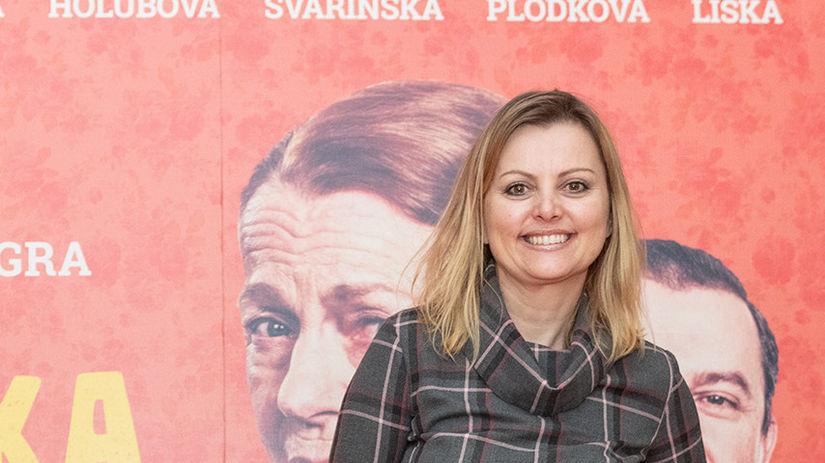 Spisovateľka Evita Urbaníková na premiére...