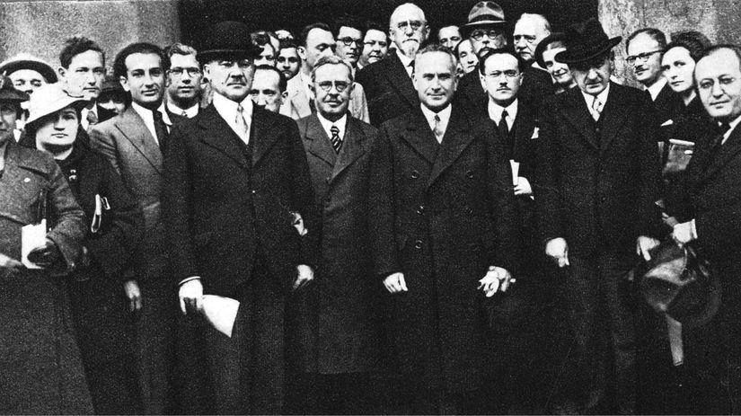 Štefan Osuský, Ivan Dérer, Milan Hodža
