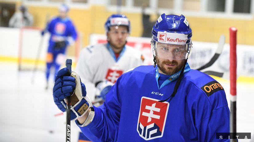 HOKEJ-MS: Tréning slovenskej reprezentácie Sersen