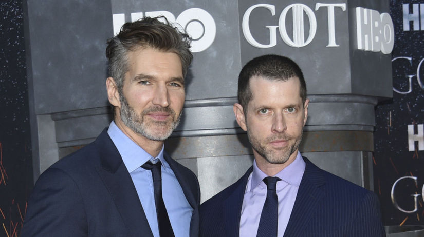 David Benioff (vľavo) a D. B. Weiss