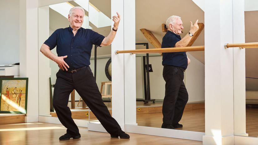 tanec, dôchodca