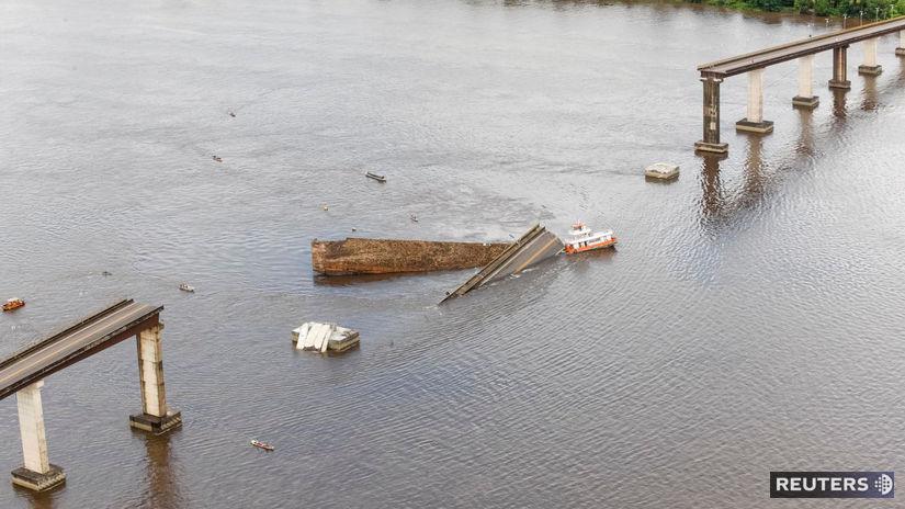 brazília, most, zrútenie, nehoda, loď, rieka