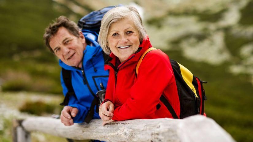 dôchodca, senior, manželia, turistika,...