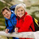 dôchodca, senior, manželia, turistika, dovolenka, výlet