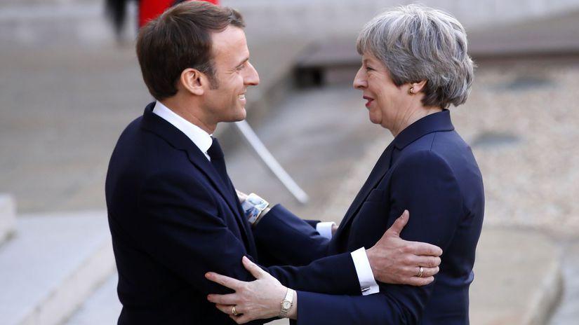 Francúzsko Macron Mayová brexit rokovanie