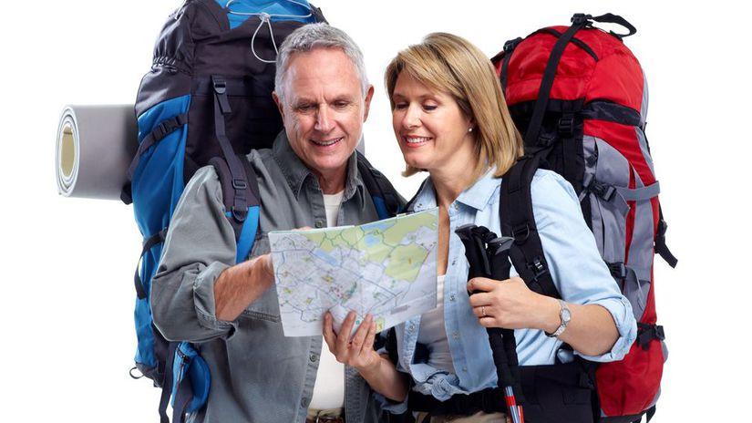 senior, turistika, výlet