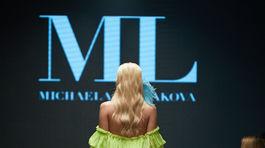 Aktuálna Miss Slovensko Dominika Grecová počas prehliadky Michaely Ľuptákovej v rámci akcie Eurovea Fashion Forward.