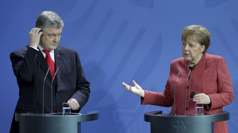 Merkelová Porošenko