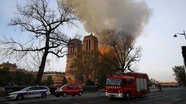 Francúzsko Paríž katedrála požiar
