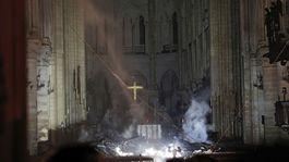 Francúzsko Paríž katedrála Notre Dame požiar oltár