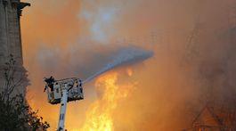 Francúzsko Paríž katedrála Notre Dame požiar