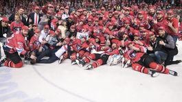 hokej, oslavy titulu, banska bystrica, 2019