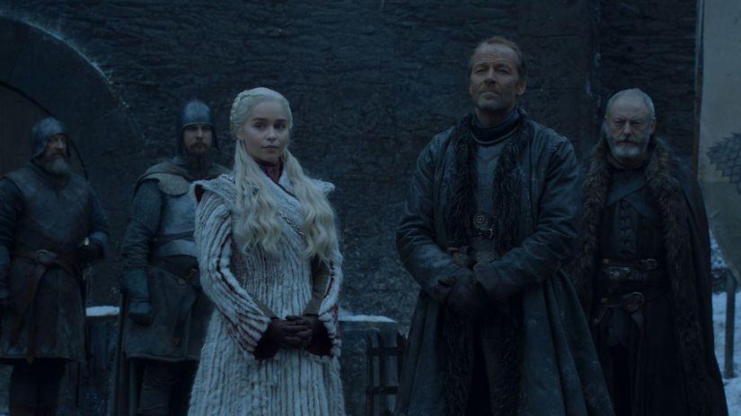 hra o tróny, game of thrones, daenerys, jorah,