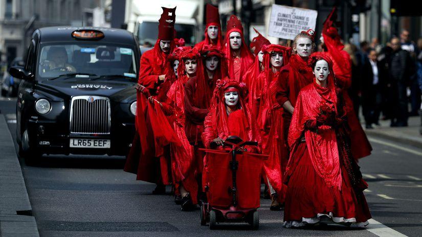 Británia Londýn klimatické zmeny protest