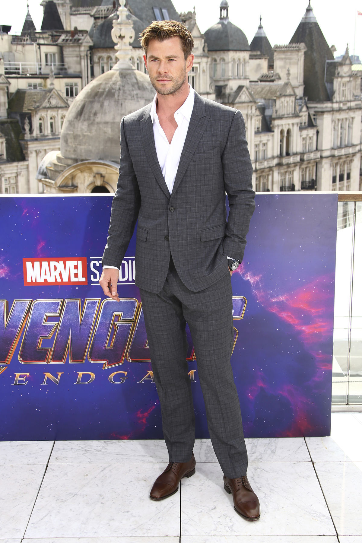 Herec Chris Hemsworth na stretnutí s fotografmi...