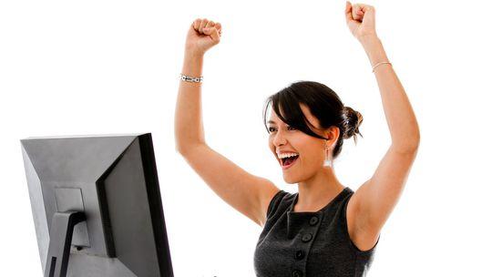 žena, práca, počítač