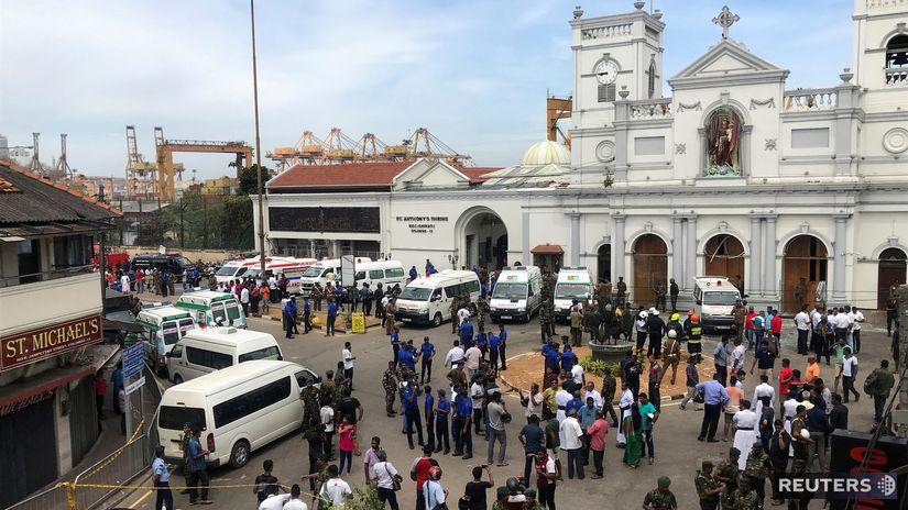 Srí Lanka / výbuch