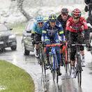 Cyklistika, ilustračná, sneh