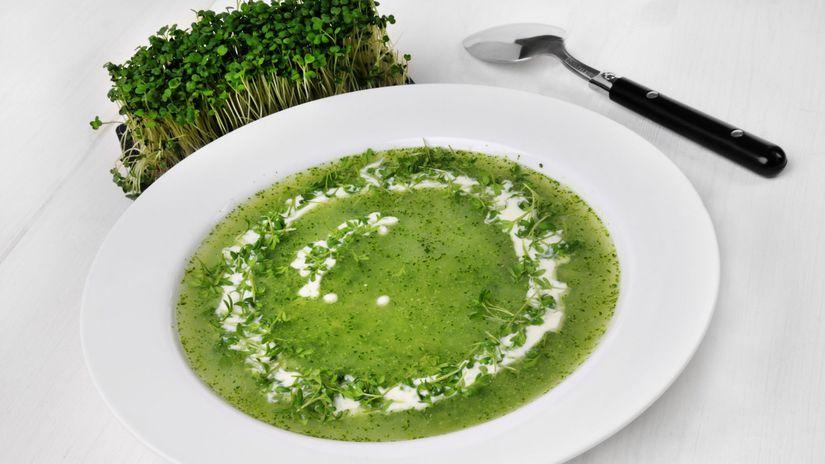 Žeruchová polievka so smotanou