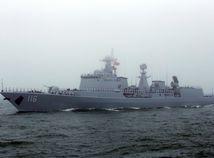 čína, loď, prehliadka, torpédoborec