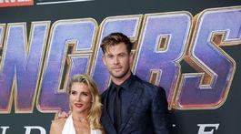 Herec Chris Hemsworth a jeho manželka Elsa Pataky.