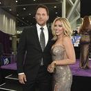 Herec Chris Pratt a jeho kolegyňa Scarlett Johansson na premiére filmu Avengers: Endgame.