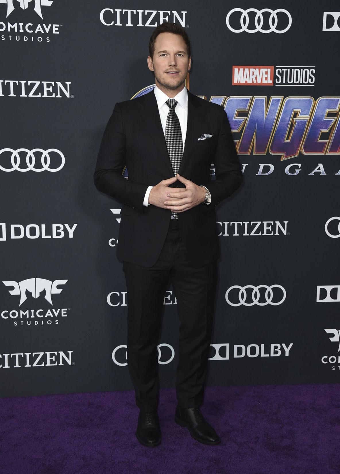 Herec Chris Pratt na premiére filmu Avengers:...