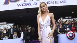 Herečka Brie Larson pózuje na premiére filmu Avengers: Endgame.