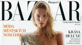 Topmodelka Michaela Kocianová na obálke magazínu Harper´s Bazaar.