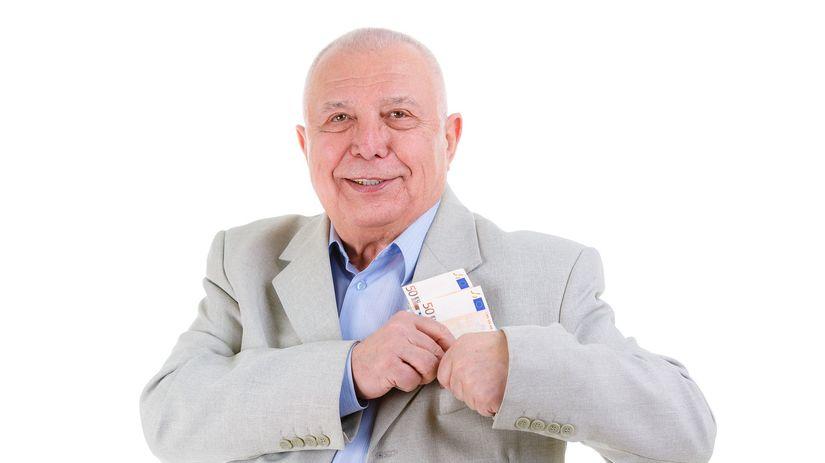 dôchodca, peniaze
