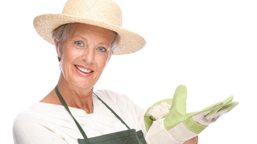 dôchodca, senior, záhrada
