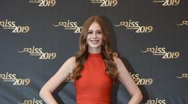 Finalistka súťaže Miss Slovensko s číslom 1 Natália Hrušovská.