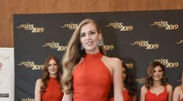 Finalistka súťaže Miss Slovensko s číslom 7 Ivana Gromová.