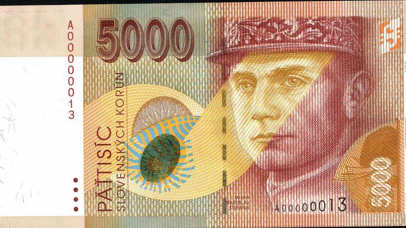 M. R. Štefánik, koruna, bankovka