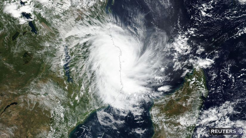 cyklón, hurikán, mozambik, juhoafrická republika