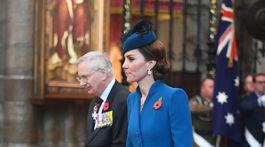Na slávnostnej bohoslužbe sa zúčastnila aj vojvodkyňa Catherine z Cambridge.