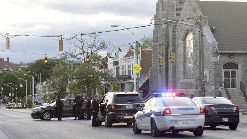baltimore, maryland, USA, streľba, polícia, police