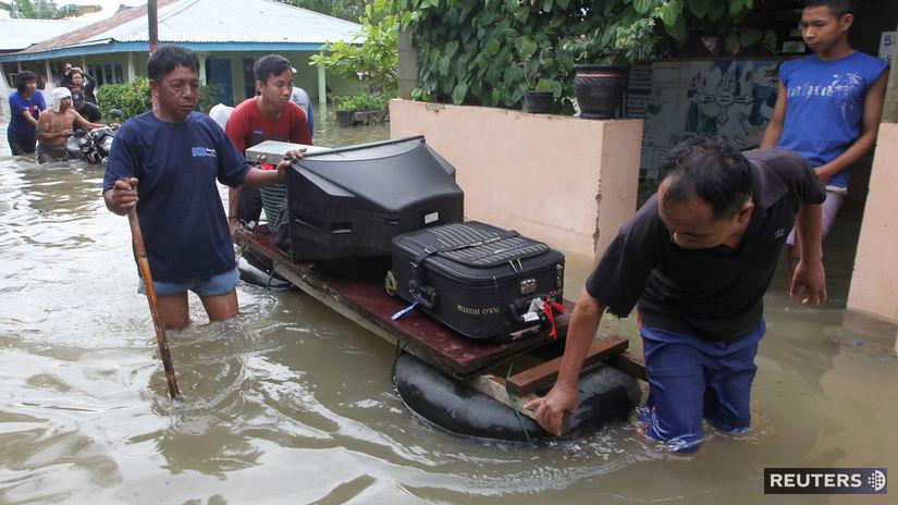 Indonézia / povodne / Sumatra /