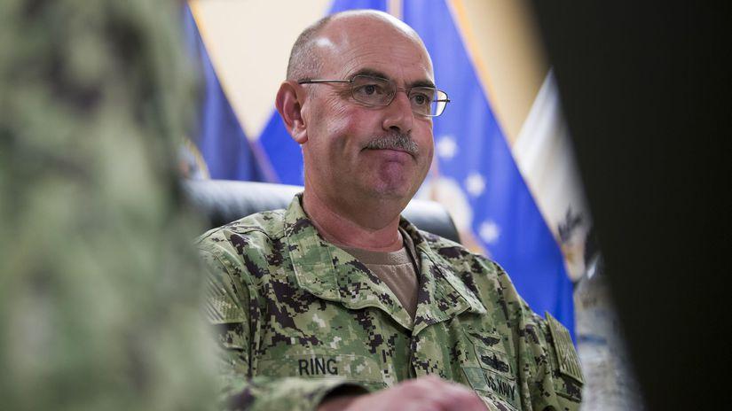 USA väznica Guantánamo, Kuba, kontradmirál John...