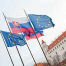 vlajky, hrad, bratislava, slovensko, eú, európska únia